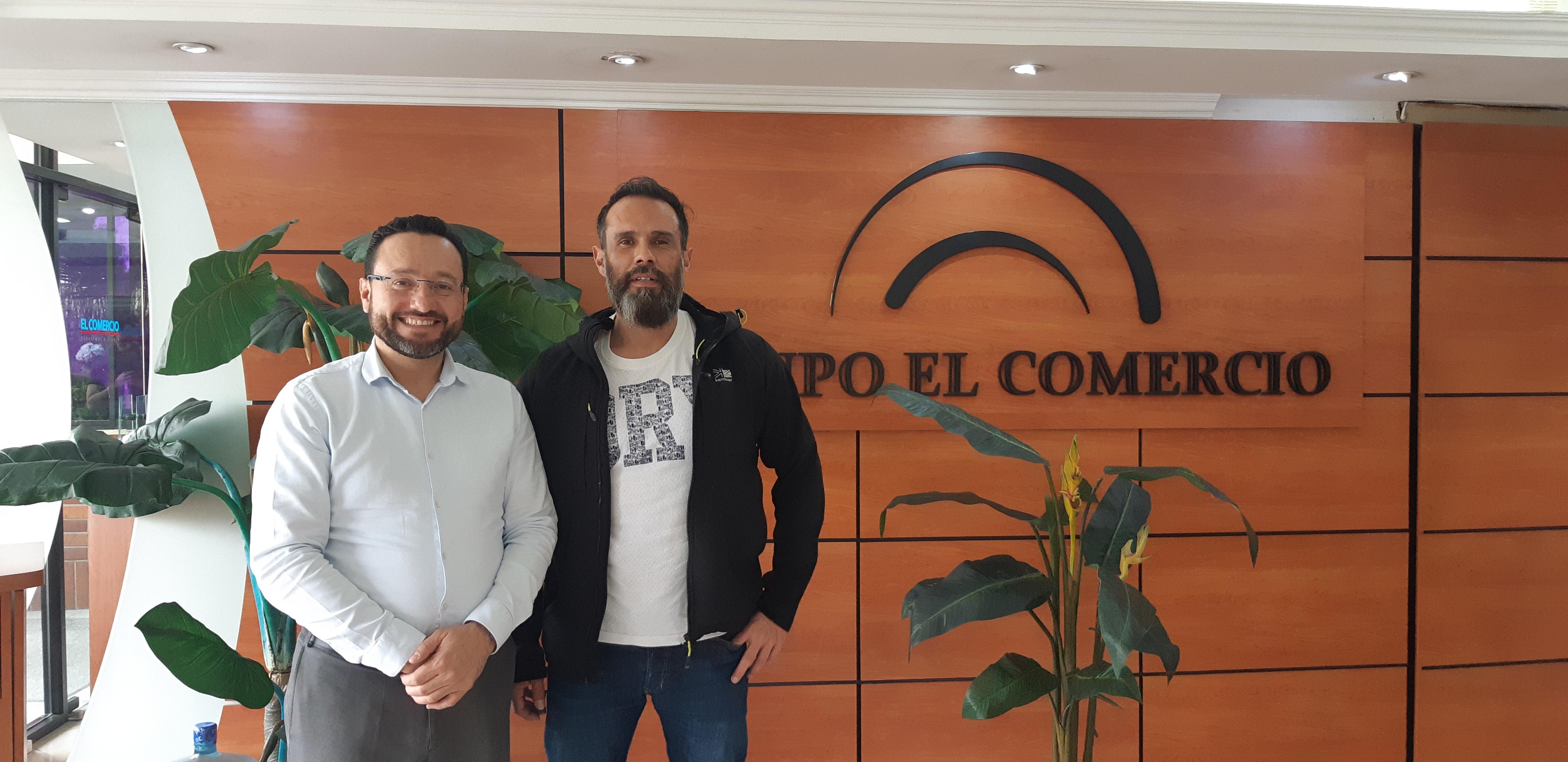 Entrevista en importantes medios de comunicación de Ecuador