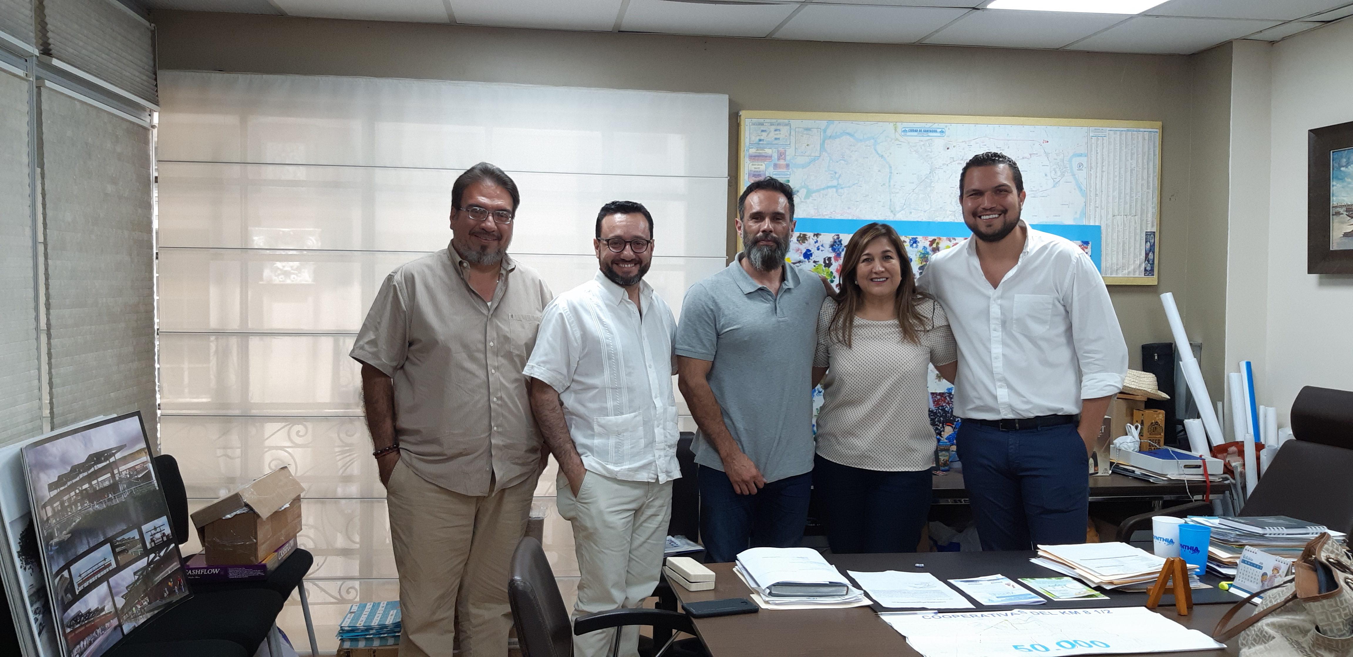 Socialización del alcance del proyecto en la municipalidad de Guayaquil